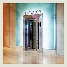 Elevator in a mall.