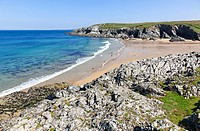Porth Joke or Polly Joke beach near to Crantock Cornwall South West England UK.