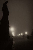 Charles Bridge in the Fog