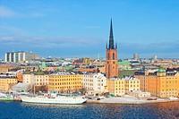 Sweden, Stockholm - Riddarholmen Island in Winter.