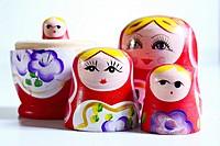 Matrioshka, russian wooden dolls.
