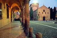 Italy, Emilia Romagna, Bologna, Piazza Santo Stefano Church, Chiesa del Crocifisso Church.