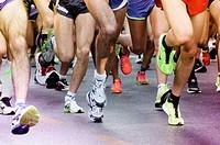 Close up of Running Feet.