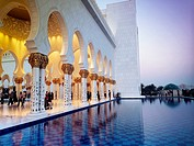 United Arab Emirates. Abu Dhabi, Sheikh Zayed Grand Mosque.