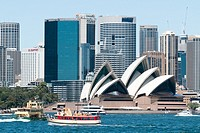 Sydney Opera House and city centre Australia