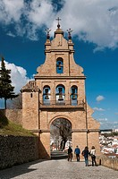 Belfry gate of the castle and village, Aracena, Huelva province, Region of Andalusia, Spain, Europe.