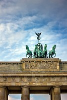 The Brandenburg Gate (German: Brandenburger Tor) is a former city gate and one of the main symbols of Berlin and Germany.