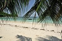 Beach of Baie Lazare, Mahé, Seychelles.