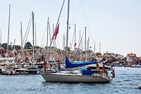 Boats at Fjallbacka, bohuslan region, west coast, Sweden.