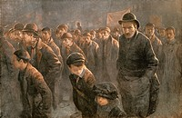The Unemployed in the mid 19th century. From Bibby´s Annual published 1910.