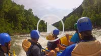 Whitewater rafting tour with tourists on the Ocoee River in Copperhill Tennessee USA