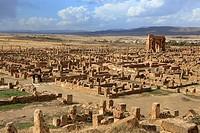 Ancient Roman city (2-3rd centuries), Timgad, Batna Province, Algeria.