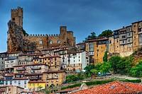 Castle. Frías. Burgos province. Castilla y Leon. Spain.