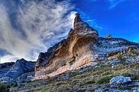 Sierra de Pela y Laguna de Somolinos Natural Monument. Somolinos. Guadalajara Province. Castilla-La Mancha. Spain.