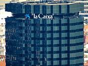 La Caixa building, Barcelona, Catalonia, Spain