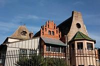 La Casina delle Civette in villa torlonia park in rome italy