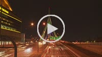 Timelapse view of traffic crossing the Leonard P. Zakim Bunker Hill Memorial Bridge at night in Boston, Massachusetts.