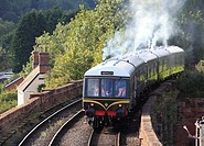 A vintage Class 108 DMU heads towards Bewdley inpreparation for the ´Fish N´ Chip Special´ evening run, Severn Valley Railway, Worcestershire, England...