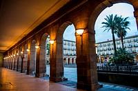 Plaza nueva de Bilbao. Vizcaya. Basque Country. España. Europa.