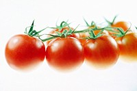 Cherry Tomatoes Isolated on a White Background. . . .