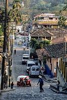 Honduras, Copan. Street Scene.