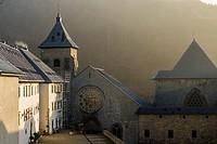 Historical buildings of Orreaga Roncesvalles, Navarre, Spain.