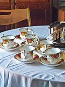 Fine china tea set.