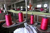 BANGLADESH, Dhaka: A closed garment factory in Ashulia Savar in Dhaka on September 24, 2013. Angry Bangladeshi garment workers blocked roads, set fact...