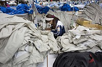 Clothing factory in Vietnam.