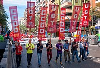 -Demonstration Against Cut´s Politic of Mariano Rajoy (Popular Party)- Alicante 1st of May (Spain).