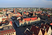 View from St. Elizabeth´s Church, Wroclaw, Poland.