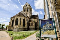 The Church of Auvers-sur-Oise, Auvers sur Oise, the village where Vincent van Gogh lived for the last 70 days of his life, France