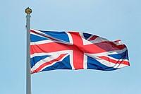 Union Jack on flagpole.