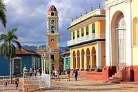 Brunet Palace and San Francisco Church on the Plaza Mayor, Trinidad, Cuba