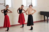 Dance Class young Cuban students Benny More School for Arts, Cienfuegos, Cuba