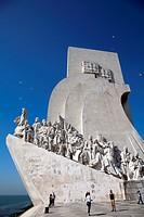 Padrão dos Descobrimentos Monument on tagus River Promenade in Belem, Lisbon - portugal.