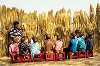 School for Bushmen children. Intu Afrika Kalahari Game Reserve, Kalahari Desert, Namibia.