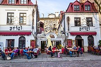Ariel Restaurant at Kazimierz, the old Jewish district in Krakow, Poland, Europe.