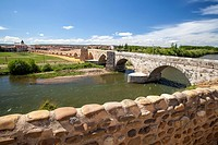 Puente del Passo Honroso in Hospital de Orbigo, Way of St. James, Leon, Spain.