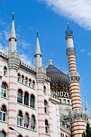 Exterior Facade of the Restaurant Yenidze in Dresden, Saxony, Germany.
