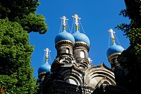 Russian Orthodox Church in Dresden, Saxony, Germany.