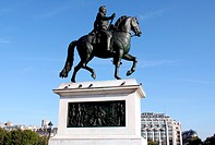 Statue of Henry IV king of France in Paris.