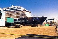 """Kiel, Germany. 5th June, 2015. Impressions from the christening of the TUI Ship """"""""Mein Schiff 4"""""""" with fromer swimmer Franziska van Almsick as godmoth..."""