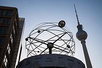 world clock at alexanderplatz in berlin.