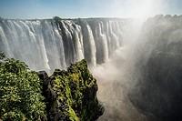 Victoria Falls, Zimbabwe - Victoria Falls Waterfall.
