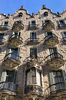 Spain, Catalonia, Barcelona, Casa Calvet, designed by Antoni Gaudí (1898-1900).