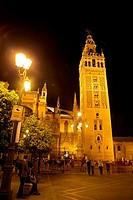 Cetedral night Seville, Spain.