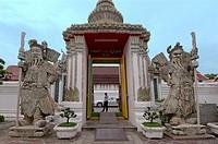 Wat Pho - Temple of the Reclining Buddha, its official name is Wat Phra Chetuphon Vimolmangklararm Rajwaramahaviharn, Phra Nakhon district, Bangkok, T...