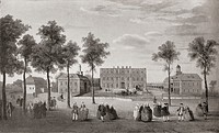 Buckingham House in about 1750. From Buckingham Palace, Its Furniture, Decoration and History, published 1931.