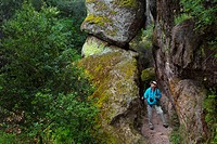 Bear Gulch Cave Trail, Pinnacles National Park, California.